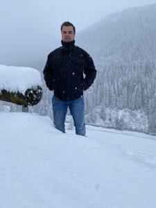 Chiel in de sneeuw